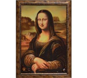 Картина с янтарем Мона Лиза (rb-20)