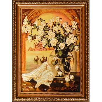 Картина с янтарем (rb-34)