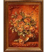 Картина з бурштином Троянди (rb-35)