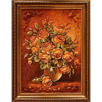 Картина с янтарем Розы (rb-35)