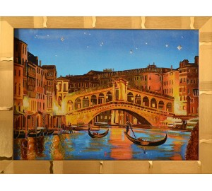 Картина с янтарем Венеция (rb-32)