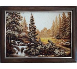Картина с янтарем Водопад (rb-48)