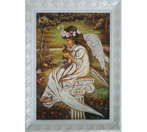 Картина с янтарной крошкой Нежность (rb-38)