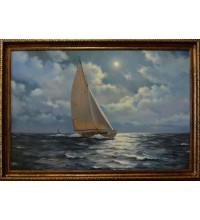 Копія картини художника James Brereton - A NIGHT TIME SAIL (чк-03)