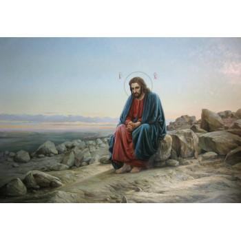 Копия картины И.Крамского Иисус в пустыне (сч-34)