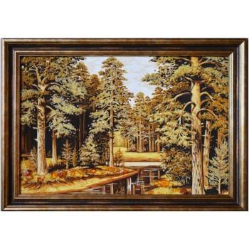 Лес - картина из янтаря (rb-03)