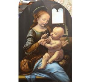 Мадонна Бенуа - копия ранней картины Леонардо да Винчи (сч-38)