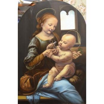 Мадонна Бенуа - копія попередньої картини Леонардо да Вінчі (сч-38)