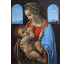 Мадонна Литта - копия картины Леонардо да Винчи эпохи Возрождения (сч-39)