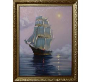 Море - копия картины художника James Brereton (чк-02)