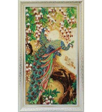 Павлины - картина из янтаря (rb-46)