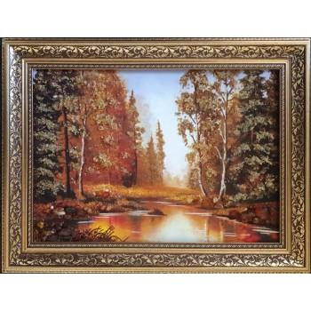 Пейзаж из янтаря Осенняя природа (rb-59)