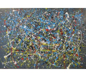Пшеничное поле - яркая картина в стиле абстракционизм (чк-01)