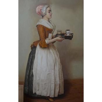Шоколадница - копия картины Жана Этьена Леотара (сч-47)