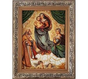 Сикстинская Мадонна - картина из янтаря (rb-01/1)