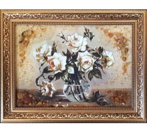 Янтарная картина Розы (rb-23)