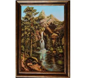 Янтарная картина Водопад (rb-15)