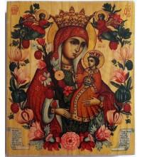 Икона Божьей Матери Неувядаемый цвет - икона под старину (ХМ-110)