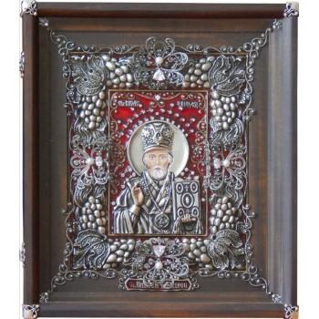 Святой Николай Угодник - великолепная икона на подарок (Ос-НК23)