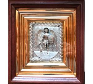 Икона Архангел Михаил - именная икона с серебром (ЮЛ-14)