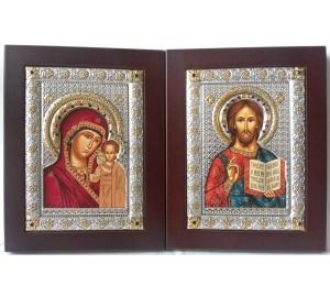 Спаситель і Казанська Богородиця - пара вінчальних ікон (EKBXAG9)