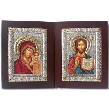 Спаситель и Казанская Богородица - пара венчальных икон (EKBXAG9)