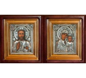 Венчальные иконы с серебром и позолотой (юл-25)