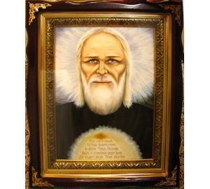 Агапит Печерский - писаная икона (Гр-40)