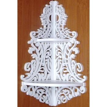 Дерев'яна полиця для ікон ручної роботи (Ос-001)