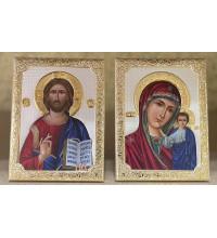 Вінчальна пара ікон Ісус Христос та Казанськая Божа Матір (SA-001)