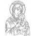 Венчальная пара икон вышитых бисером - Иисус Христос и Божья Матерь Казанская  (бюп-3)